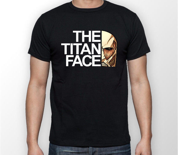 The Titan Face Attack on Titan Anime Unisex Tshirt T-Shirt Tee ALL SIZES