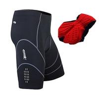 Santic Men Bicycle Cycling Clothing Shorts 4D Coolmax Padded Bike Shorts Black With Gary Reflective Half