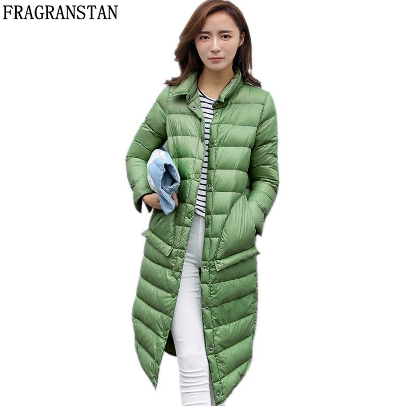Women Winter New Fashion 90 White Duck Down Jacket Ultra Light Waterproof Coat Female Casual Loose
