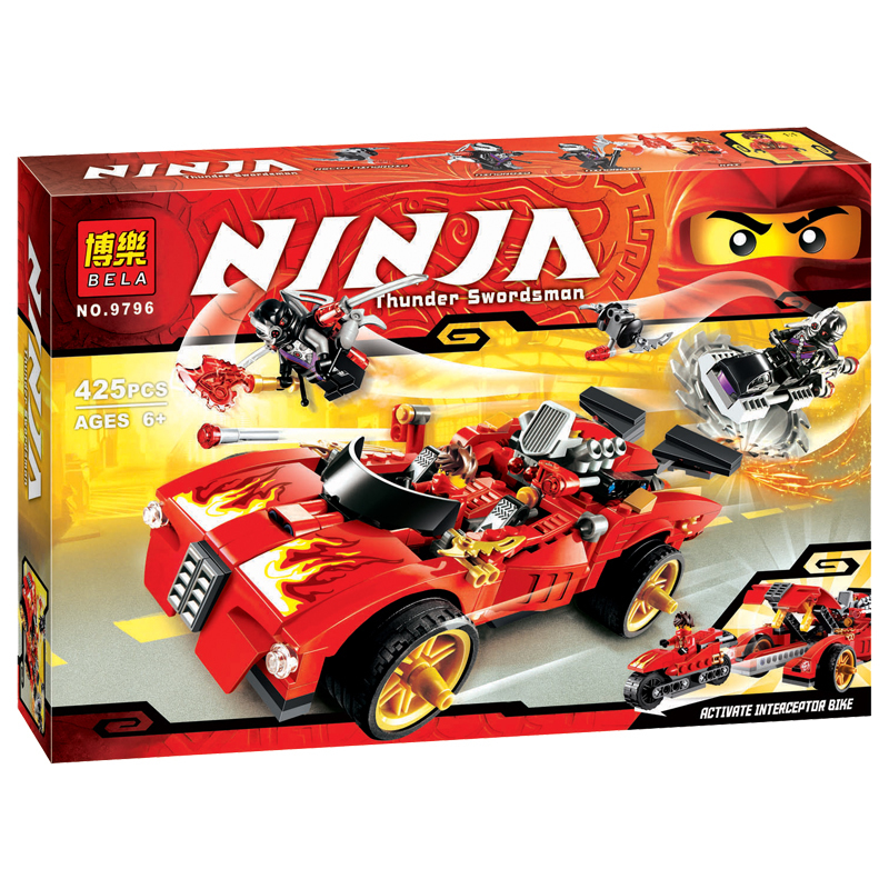 425pcs Compatible Legorret Ninjagoing Kai Charger Activate Interceptor Car Building Blocks Toy For Children DIY Ninja Brick Gift