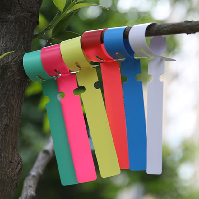 US $4 89 29% OFF Corlorful Garden 100pcs Plastic Ribbon Durable Plant  Hanging Tags Waterproof UV resistant Nursery Gardening Labels Marker  Sign-in