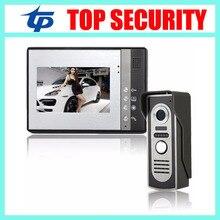 Pantalla a color TFT de 7 pulgadas versión de la noche 420TVL cámara de vídeo pantalla a color de video de la puerta sistema de intercomunicación de bell de puerta de puerta digital teléfono