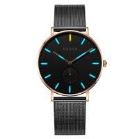 Высококачественные Женские часы лучший бренд класса люкс DW простые часы из нержавеющей стали с сетчатым ремешком сапфировое стекло 50 м вод