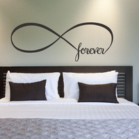 DCTOP Infinity Symbol Forever Wall Stickers Home Decor Bedroom Vinyl Removable Wall Decals Simple Style