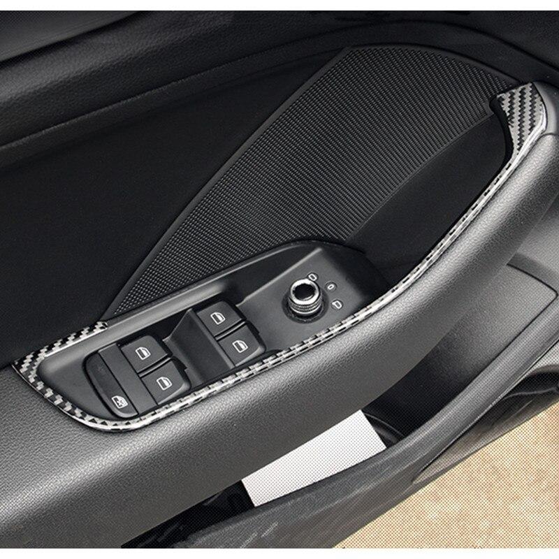 Carbon Fiber Door Armrest Panel Strips For Audi A3 8v 2013 16 Interior Door Handle Decoration