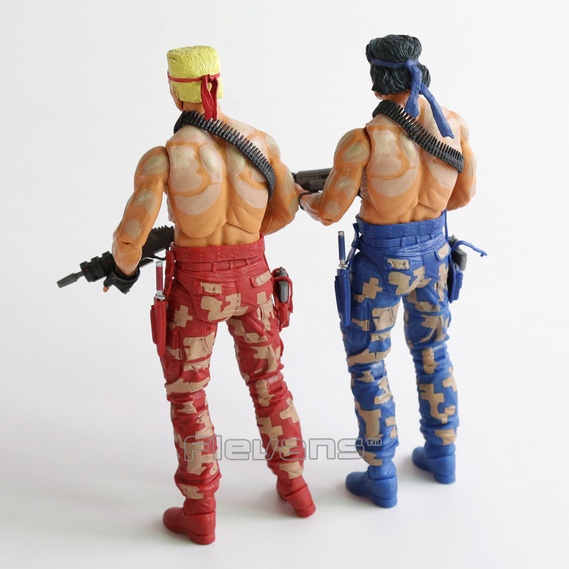 """NECA Contra Bill and Lance 2-Pack 7"""" Scale Action Figures IN STOCK"""