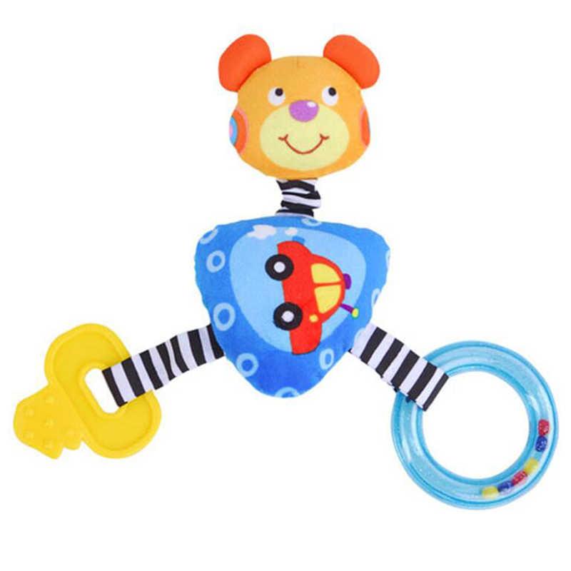 لعبة حشرجة أطفال الدب أفخم الكرتون عربة BB عصا اللعب لحديثي الولادة 0-24 أشهر موبايل ألعاب تعليمية اليد فهم عضاضة