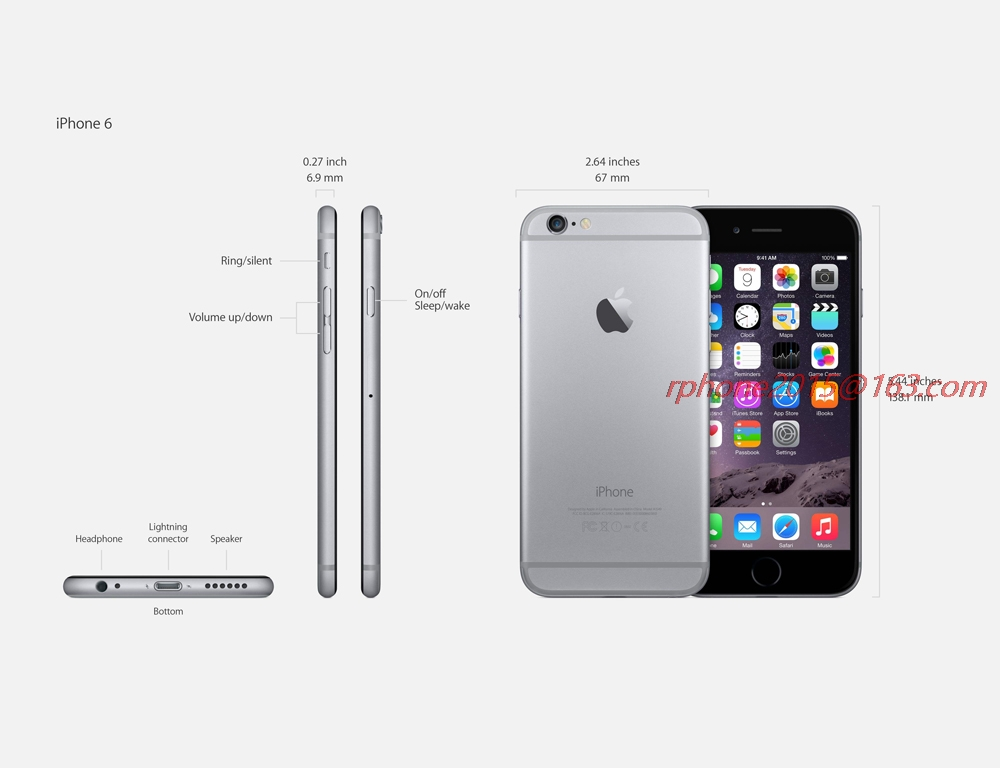Original Apple iPhone 6 Dual Core 4.7 inch IOS 16/64/128GB ROM 1.4GHz 8 MP Camera 3G WCDMA 4G LTE Used Phone 14