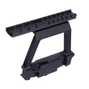 Montaje de alta resistencia AK47 AK74 Picatinny Weaver 20mm Rail AK serie QD montaje de Mira lateral Caza Rifle Airsoft