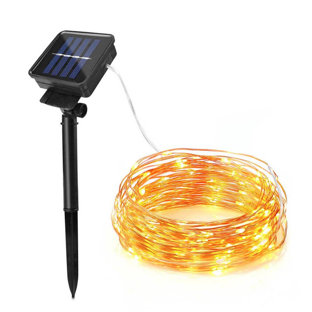 20 M Led Solar String Weihnachten Ornament Lichter Girlande Fee Streifen Lampe Garten Hochzeit Neue Jahr Dekoration Im Freien Wasserdichte Reisen