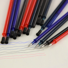 4pcs/Lot Magic Erasable Pen Refill 0.5mm Blue Black Red Ink Gel For Writing Stationery Office School Supplies