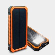 Banco de la energía Solar 12000 mah portátil batería Externa del Cargador Poverbank inversor Carregador carga Bateria Externa Cargador