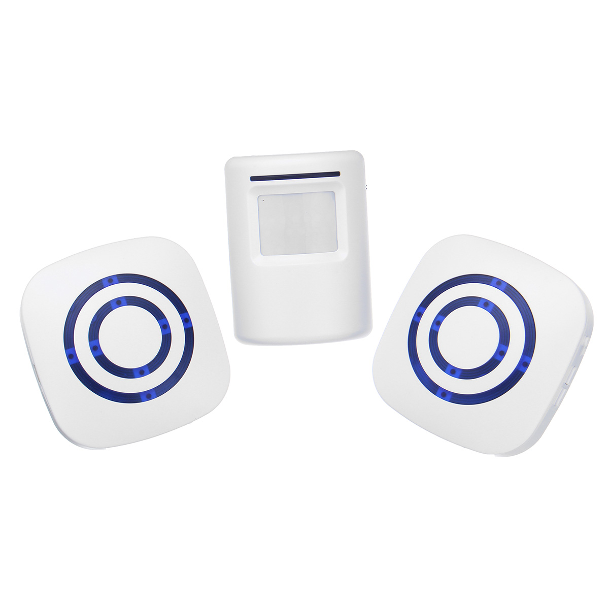 EU Plug Home Wireless PIR Motion Sensor Wireless DoorBell Door Chime Bell Remote Control Doorbell Alarm