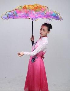 Image 3 - 무대 춤 우산 밸리 댄스 소품 무대 소품 팬 오프닝 댄스 우산 성능 꽃 우산 중국어 우산