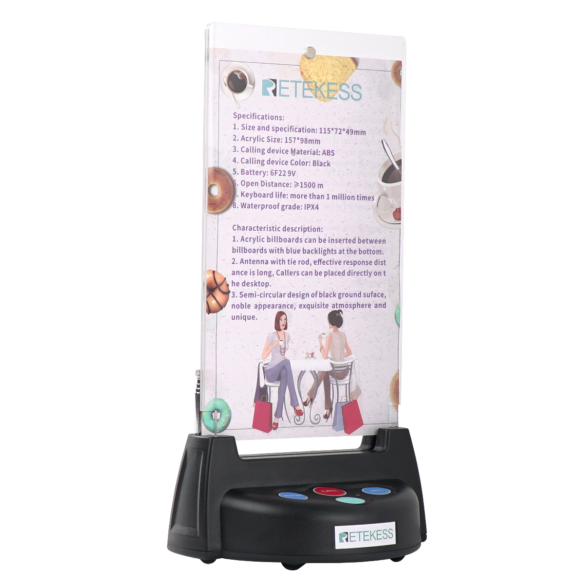 Image 4 - Retekess T128 Watch Receiver + 4pcs TD006 Table Card Pager Wireless Calling System For Restaurant Equipment Customer Service-in Pagers from Computer & Office