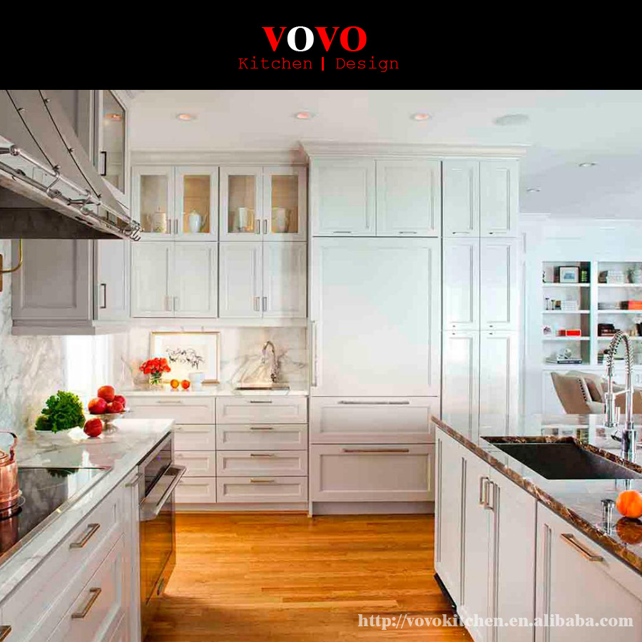 Kitchen Cabinets Usa: America Style White Solid Cherry Wood Kitchen Cabinets-in