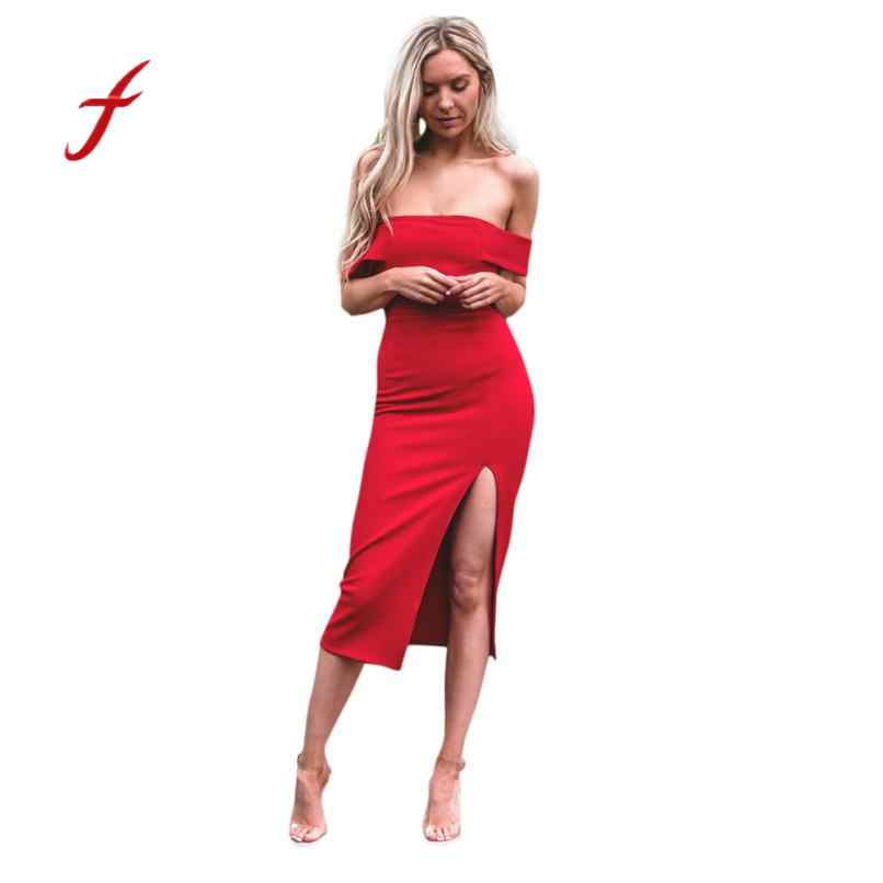 d03e3cfef76 Detail Feedback Questions about Feitong Spring Dress Women Party Bandage  Dress Formal Off Shoulder Ball Gown Sheath Party Prom Evening Maxi Sexy  Bodycon ...