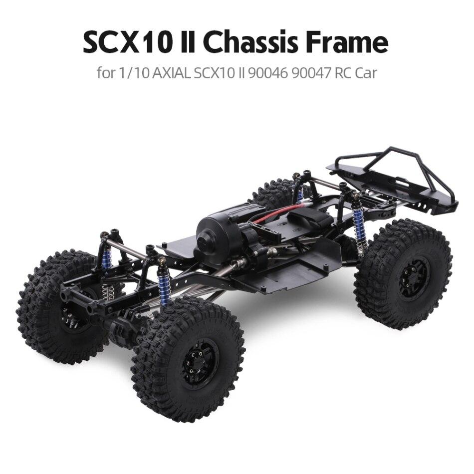 AUSTAR distancia entre ejes de 313mm chasis para 1/10 AXIAL SCX10 II 90046 90047 RC Crawler coche de DIY-in Partes y accesorios from Juguetes y pasatiempos    1