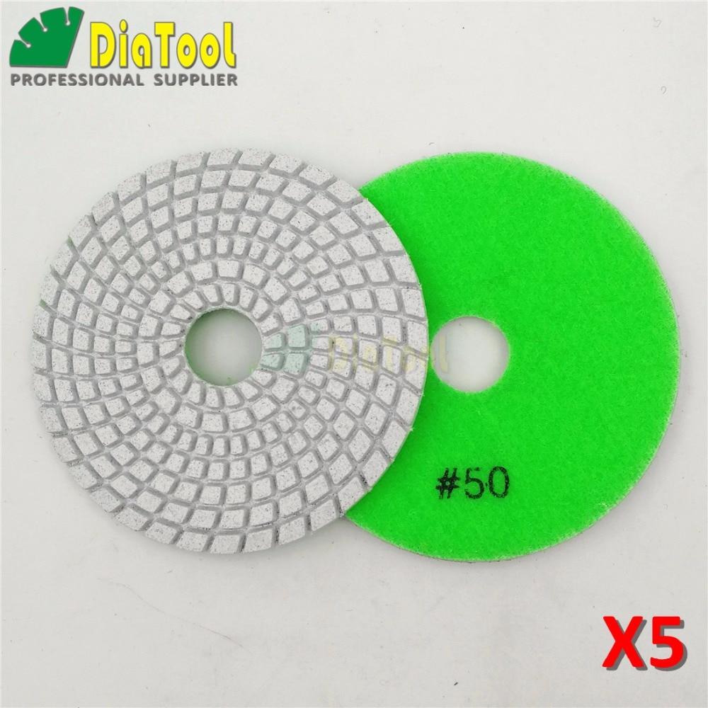 Pedra de Diamante Almofada de Lustro Disco em Espiral tipo de Disco de Polimento Shdiatool Grit Dia 100mm – 4 Sulfite Branco Flexível Molhada Lixar 10 Pcs 50