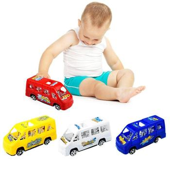 Baby Bus Toy Multicolor Seat Slide Back School Model Toys for Child Gifts for Children Birthday Xmas Gift colors random image