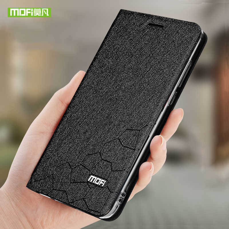Mofi Phone Case For Oneplus 7 Pro Cases Original Cover Silicone Frame Leather Back Flip Capa Fundas 360 Protector Shockproof