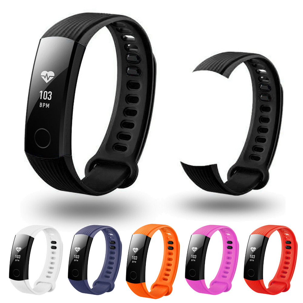 New Fashion Sports Silicone Bracelet Strap Band For Huawei Honor 3 Smart Watch Correa del reloj de la manera dignity Nov.2 genuine stainless steel bracelet quick replacement fit band strap wristband for garmin forerunner 935 watch dignity nov 2