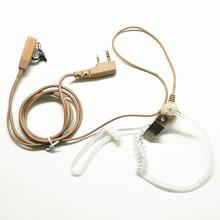 OPPXUN Walkie Talkie Khaki Earpiece PTT MIC Headset for KENWOOD BAOFENG UV-5R BF-888s Retevis H777 HYT