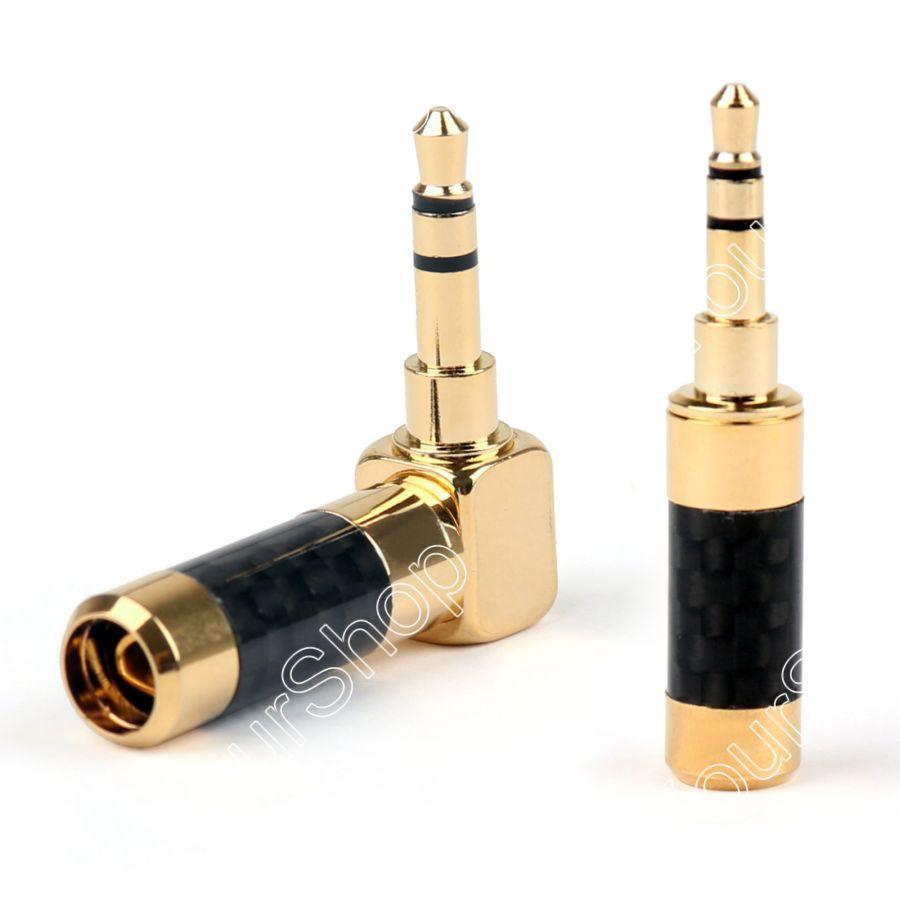 Areyourshop продажа 3.5 мм стерео мини-разъем + правый угол 3.5 мм Стерео Джек Коннектор