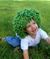 New Arrival Clown Wig Boys Halloween Costume Wig Funny Hat Crocheted Cabbage Patch Clown Pigtail
