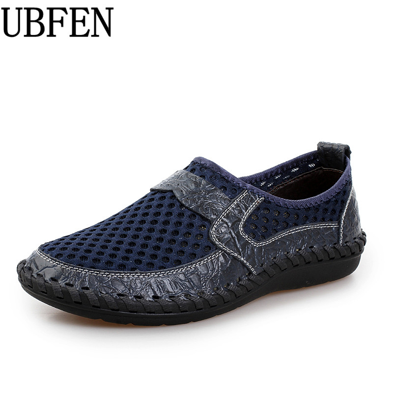 UBFEN Breathable Men's Casual Shoes For Men  2017 Summer Fashion Mesh Shoes Male Waterproof Shoes zapatos hombre Big Size цены онлайн