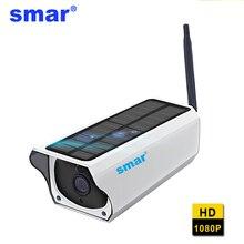 Smar 1080 P Солнечный Камера Водонепроницаемый открытый Ночное видение 2MP Wi-Fi Беспроводной IP Камера видеонаблюдения дома двухстороннее аудио