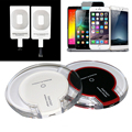 New Universal QI Wireless Charger Charging Pad with Receiver Blue Light Crystal for iPhone 5 5S 6 6S 6 Plus