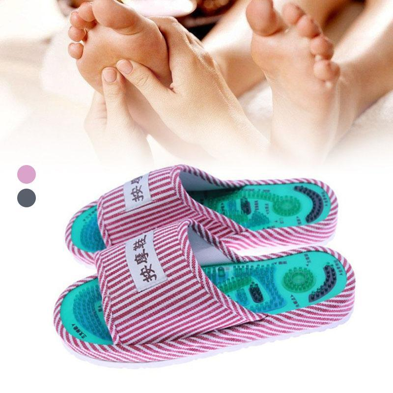Foot Massage Slippers Acupuncture Therapy Shoes For legs Acupoint Activating Reflexology Feet Elderly Health Foot R4 hollow out round faux crystal metal necklace