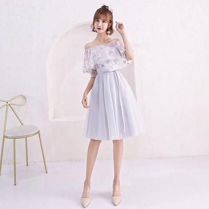 2018new stock plus size women pregnant wedding party   Bridesmaid     Dresses   organza sexy romantic A line grey   dresses   abe182
