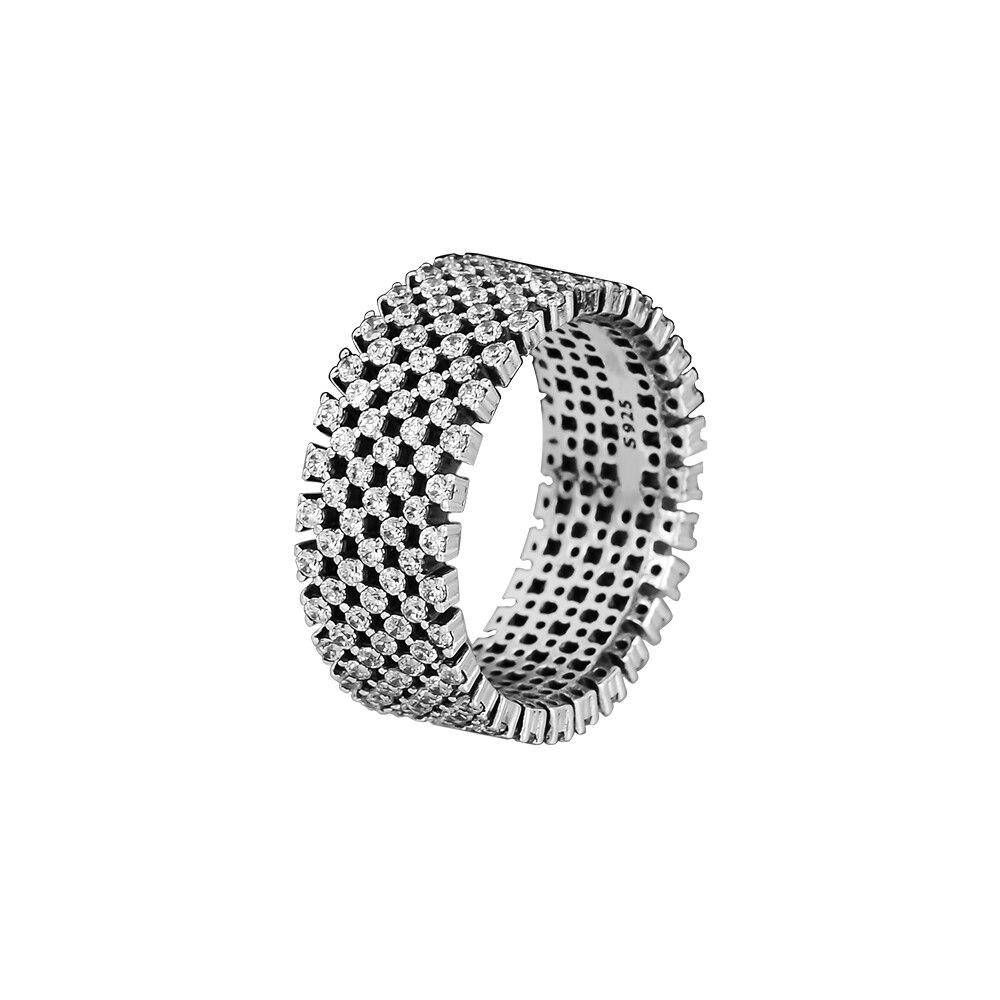 Ring Heraldic Überprüfen Silber Ringe Klar CZ Für Frauen Männer Anel Feminino 100% 925 Schmuck Sterling Silber Anillos Hochzeit