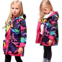2017 Spring Baby Girls Jacket Toddler Windbreaker Kids Coat Cotton Clothes Children Outerwear Abrigos Ninas Casaco