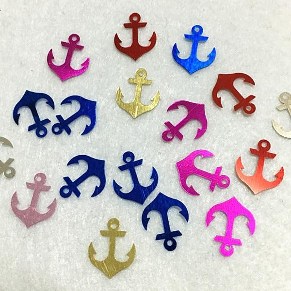 600pcs Anchor Smile Goblet Sequins Multi Colors emoji loose pvc Sequin Paillette Sewing Embellishment Findings DIY Accessories