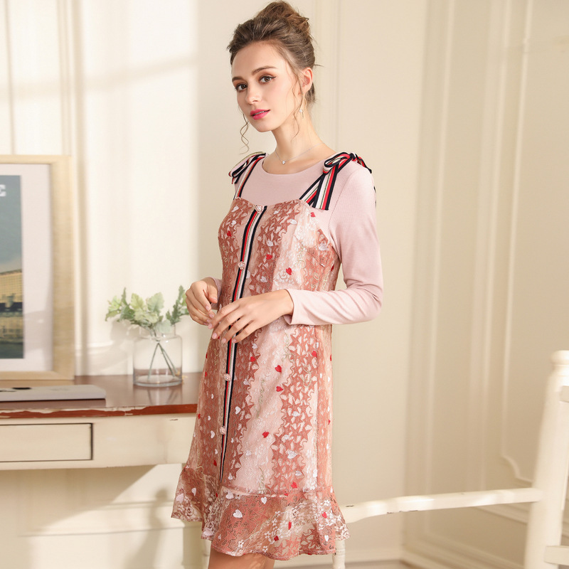 Kleid Hosentr Frauen Nette R Size Rosa Und 4xl Spitze 2018 In Plus 4xl Langarmshirts Ouyalin M ger UVSpLqzMG