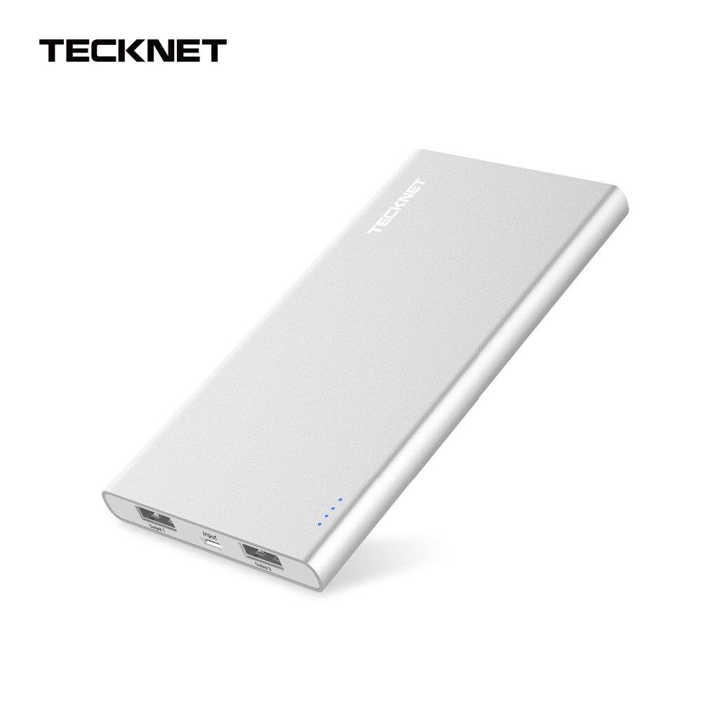imágenes para TeckNet Paquete Externo de La Batería Banco de la Energía 10000 mAh Dual USB Original Cargador Rápido Cargador Portátil Móvil para el iphone 6 S