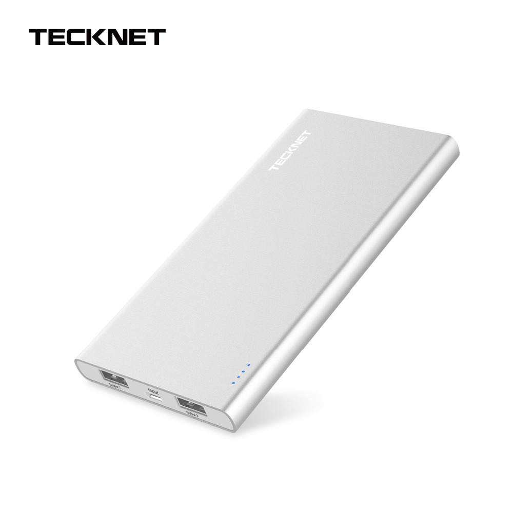 TeckNet Power Bank 10000mAh Dual USB External Battery Pack Original Quick Charger Portable Charger for Mobile