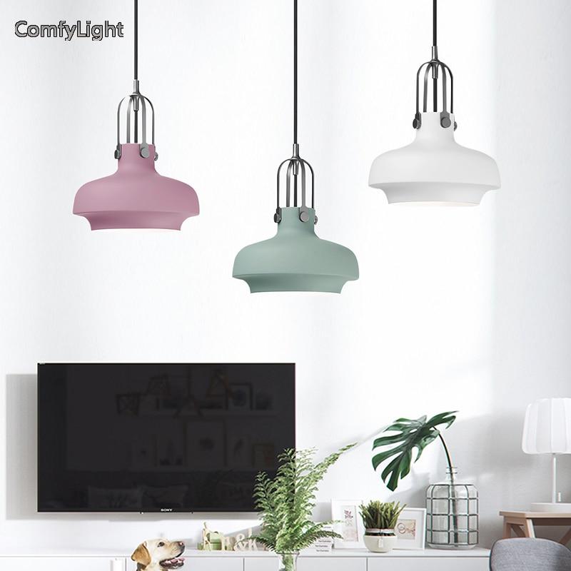 Nordic design pendant light Corridor Metal hanglamp bedside led Lamparas de techo Corridor/loft E27 Indoor Lighting Fixtures