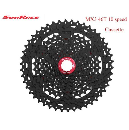 SunRace 10 <font><b>Speed</b></font> 11-46T Wide Ratio mtb bicycle bike free wheel Cassette Mountain Bike bicycle Flywheel bicycle Parts image