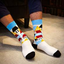 1Pair harajuku Colored Striped Cotton men socks Art Jacquard Socks Hit Color Long Dot hip hop Happy Socks antibacterial socks(China)
