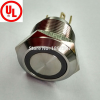 20 Pieces Micro trip momentary NO Anti vandal ring led 22mm metal electric car push button switch
