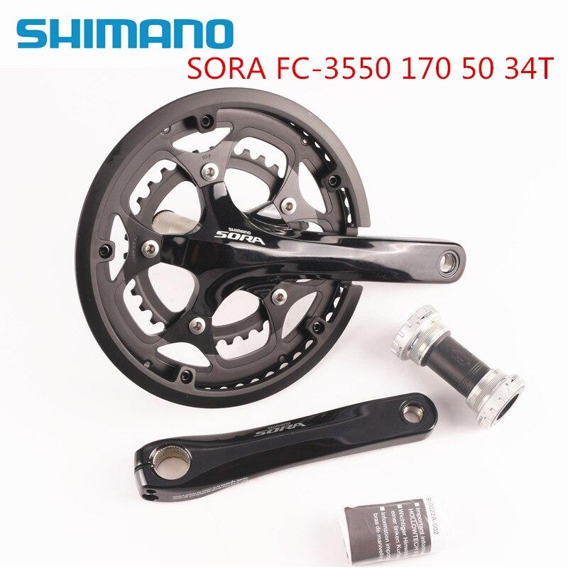 Shimano Sora 3550 170mm 50 34T 2x9 With 3500 BSA Bottom Bracket Included
