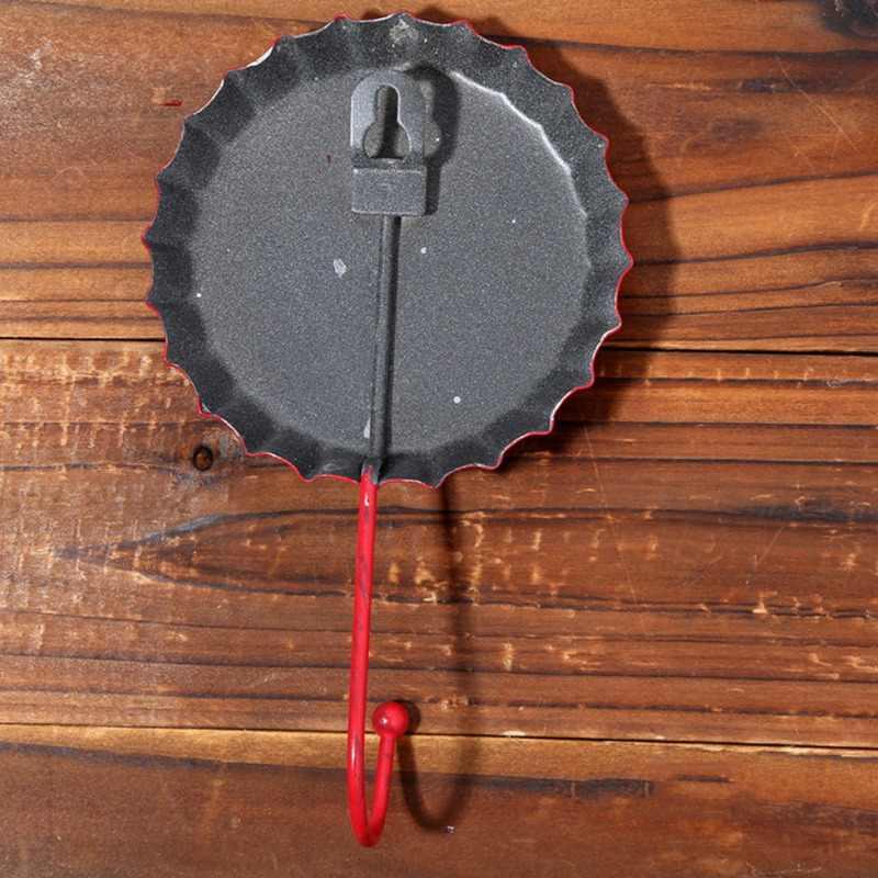 Capa de cerveja gancho de ferro forjado do vintage criativo capa de cerveja gancho de parede fivela de porta de parede da cozinha casa decoração acessórios
