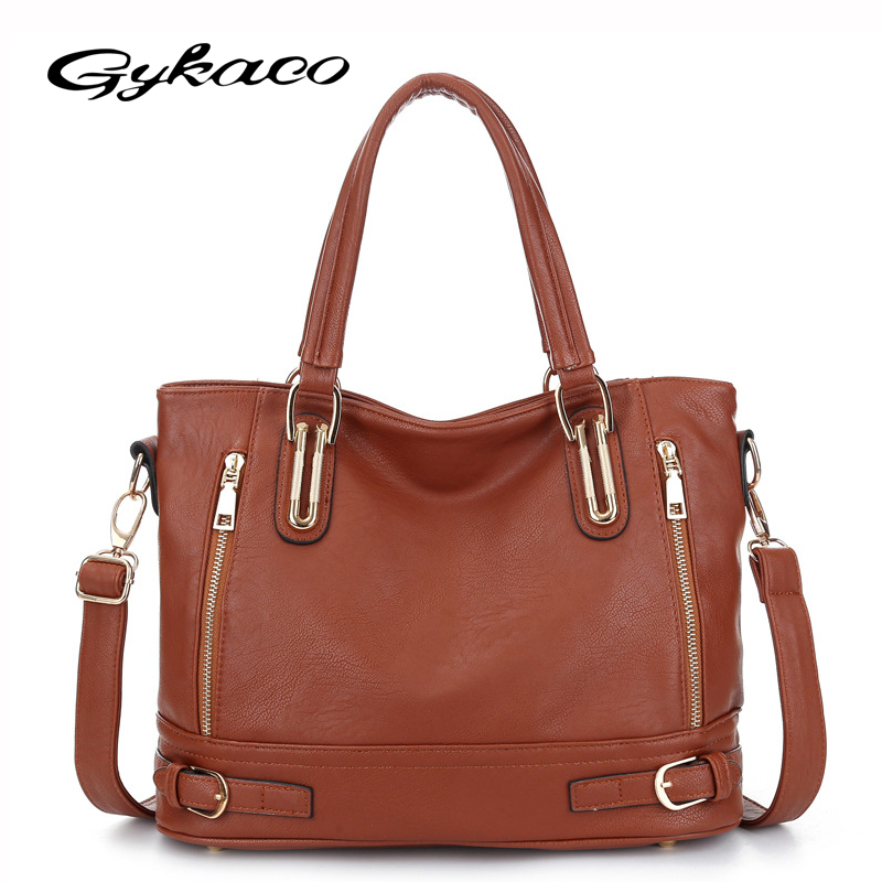 Gykaeo Designer Handbags High Quality Women Leather Handbag Female Casual Messenger Bag Ladies Soft Tote Crossbody Shoulder Bags kadell hollow designer handbags high quality women casual tote bag female large shoulder messenger bags pu leather business bag