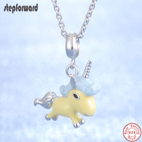 Good Quality Flying Unicorn Horse Pendant Necklace 925 Sterling Silver Design Fashion New Popular Unicorn DIY Jewelry Necklaces