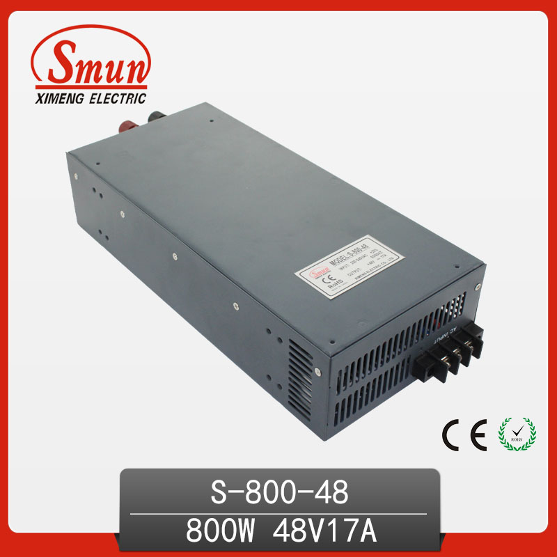 800W 48V 17A Switching Mode Power Supply Single DC Output AC-DC LED Driver high power switching power supply 800w 48v 16 5a s 800 48v single output