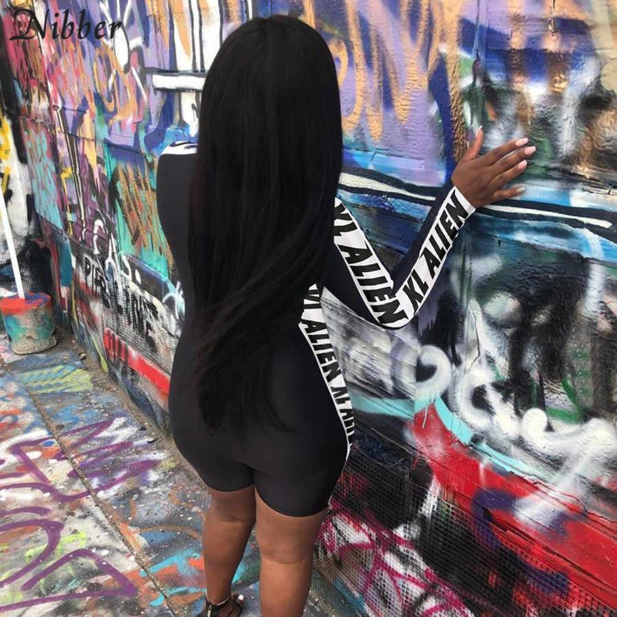 Nibber 2019, Осенний черный комбинезон с длинным рукавом, женский модный классический Облегающий комбинезон для активного отдыха, Женский уличный повседневный комбинезон
